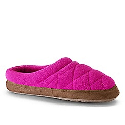 Lands' End - Pink kids' fleece clog slippers
