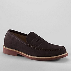 Lands' End - Brown men's archer suede loafers