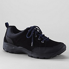 Lands' End - Black men's all terrain lace-up shoes
