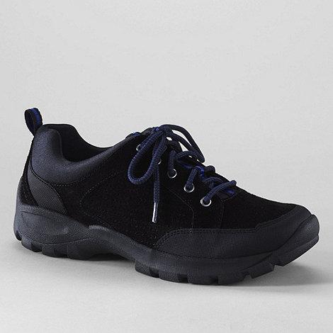 Lands+ End - Black men+s all terrain lace-up shoes