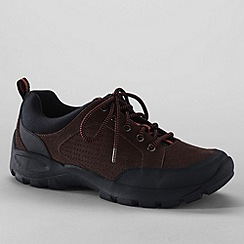 Lands' End - Brown men's all terrain lace-up shoes