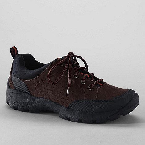 Lands+ End - Brown men+s all terrain lace-up shoes