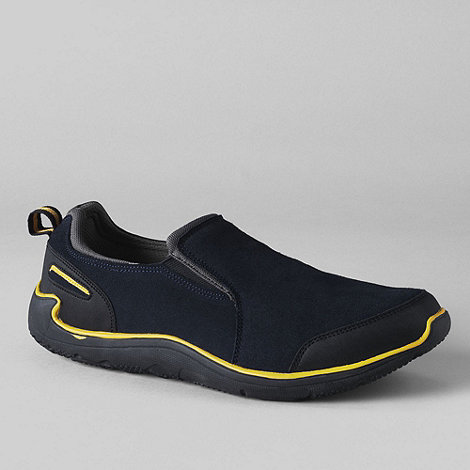 Lands+ End - Blue men+s active sport slip-on shoes