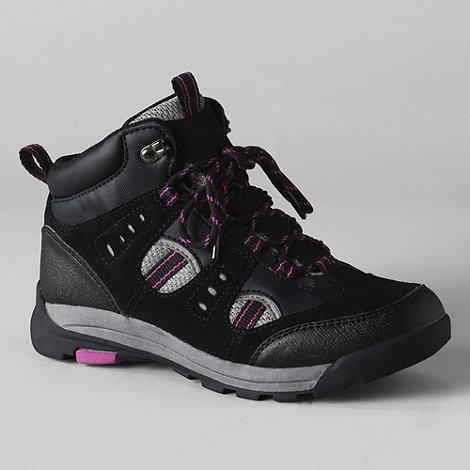 Lands+ End - Black women+s waterproof snow hiker boots