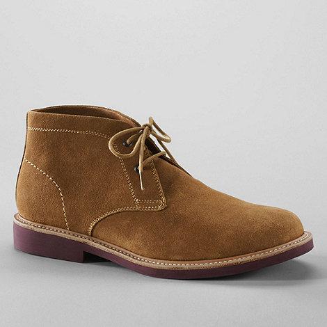 Lands+ End - Brown men+s archer desert boots