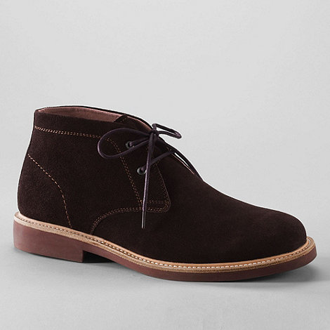 Lands+ End - Brown men+s archer desert boots