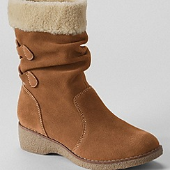 Lands' End - women's short chalet suede boots