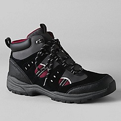 Lands' End - Black men's waterproof snow hiker boots