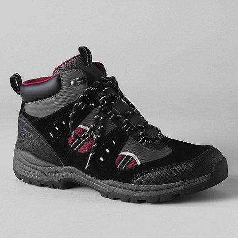 Lands+ End - Black men+s waterproof snow hiker boots