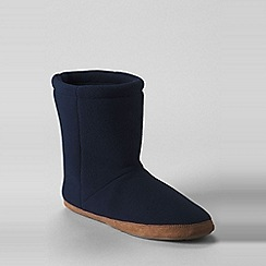 Lands' End - Blue fleece bootie slippers