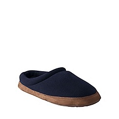 Lands' End - Blue men's fleece clog slippers