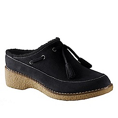 Lands' End - Black women's chalet tassel clogs