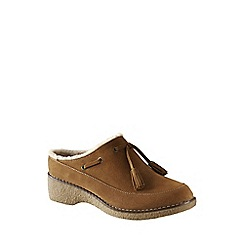 Lands' End - Brown chalet tassel clogs