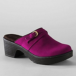 Lands' End - Purple women's carly clogs