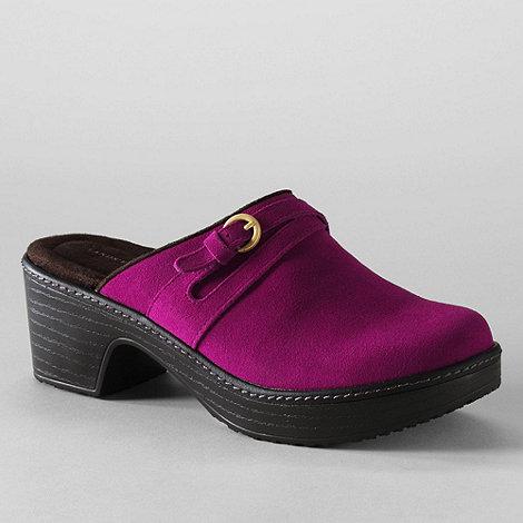 Lands+ End - Purple women+s carly clogs