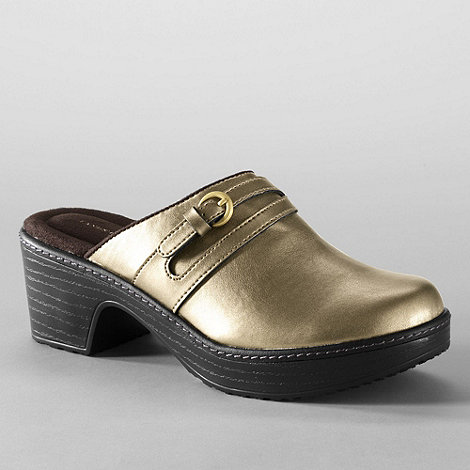 Lands+ End - Metallic women+s carly clogs