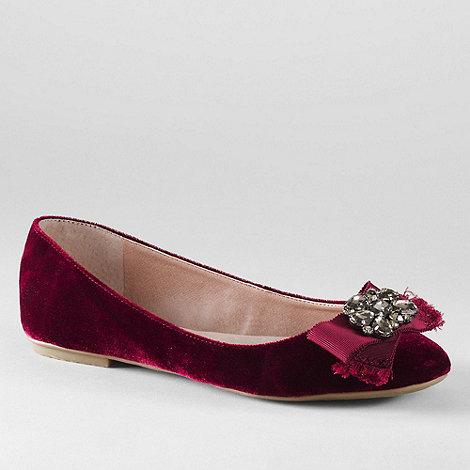 Lands+ End - Purple women+s bailey jewel ballet shoes