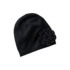 Lands' End - Black petal hat