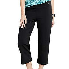 Lands' End - Black women's cropped workout pants