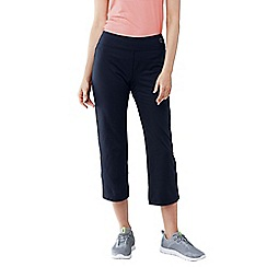 Lands' End - Black women's petite cropped workout pants