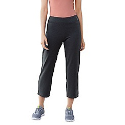Lands' End - Grey women's petite cropped workout pants