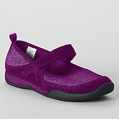 Lands' End - Purple girls' athletic mary jane shoes