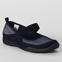 Lands' End - Blue girls' athletic mary jane shoes