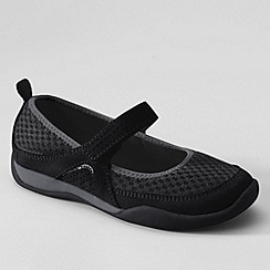 Lands' End - Black girls' athletic mary jane shoes