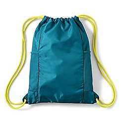 Lands' End - Blue kids' drawstring gym bag