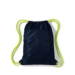 Lands' End - Blue kids' drawstring gym bag