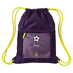 Lands' End - Purple kids' drawstring gym bag