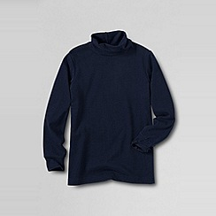 Lands' End - Blue boys' jersey roll neck