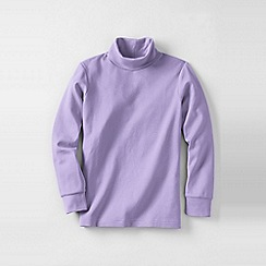 Lands' End - Purple boys' jersey roll neck
