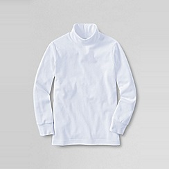 Lands' End - White boys' jersey roll neck