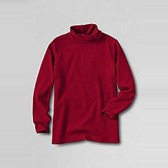 Lands' End - Red boys' jersey roll neck