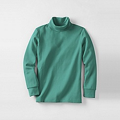 Lands' End - Green little boys' jersey roll neck