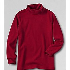 Lands' End - Red little boys' jersey roll neck