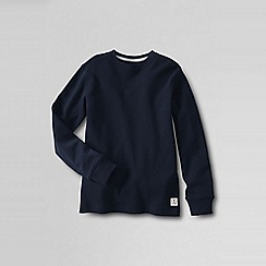Lands' End - Blue boys' waffle tee