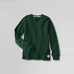 Lands' End - Green boys' waffle tee