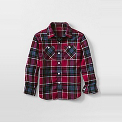 Lands' End - Red boys plaid flannel shirt