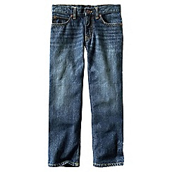 Lands' End - Blue boys' iron knee relaxed fit jeans