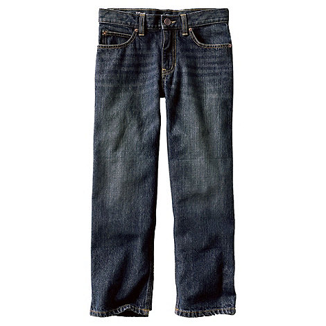 Lands+ End - Blue boys+ iron knee relaxed fit jeans