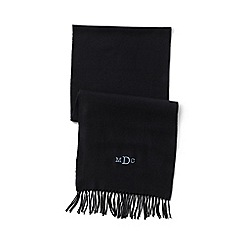 Lands' End - Black men's cashtouch scarf