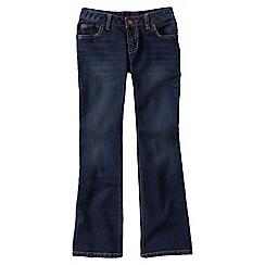 Lands' End - Blue little girls' 5-pkt denim bootcut jeans