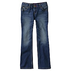 Lands' End - Blue little girls' 5-pkt denim bootcut jeans