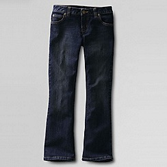 Lands' End - Blue girls' 5-pkt denim bootcut jeans