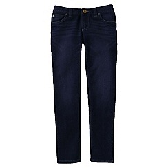 Lands' End - Blue little girls' 5-pocket pencil leg denim jeans