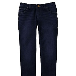 Lands' End - Blue girls' 5-pocket pencil leg denim jeans