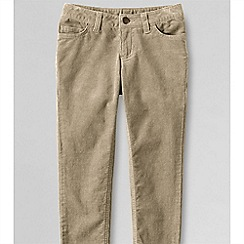 Lands' End - Green little girls' 5-pocket pencil leg cord jeans