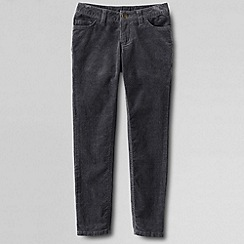 Lands' End - White girls' 5-pocket pencil leg cord jeans